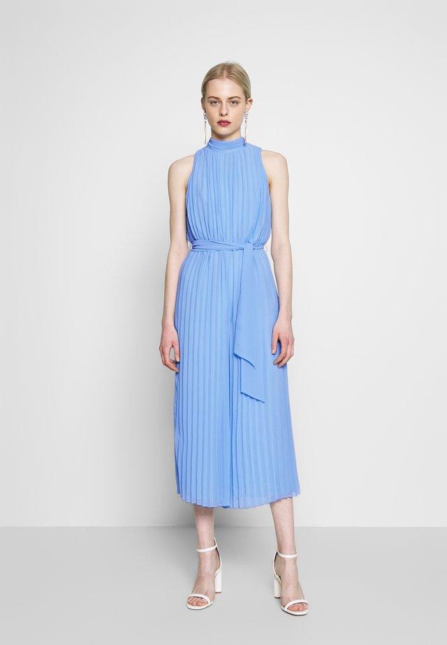 PLEATED HIGH NECK CULOTTE - Jumpsuit - pale blue
