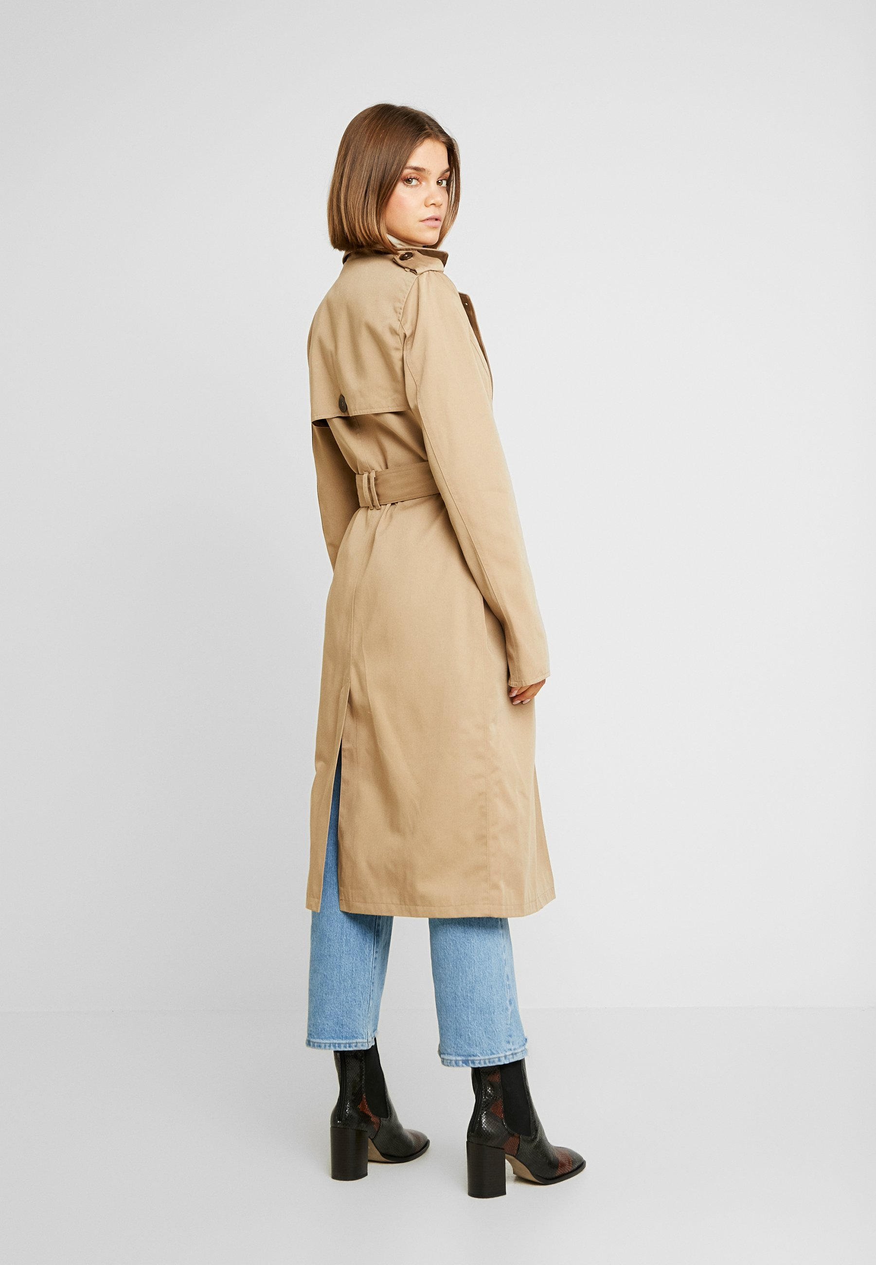 ClassicTrench Check Beige Contrast Warehouse ym0nv8NwO