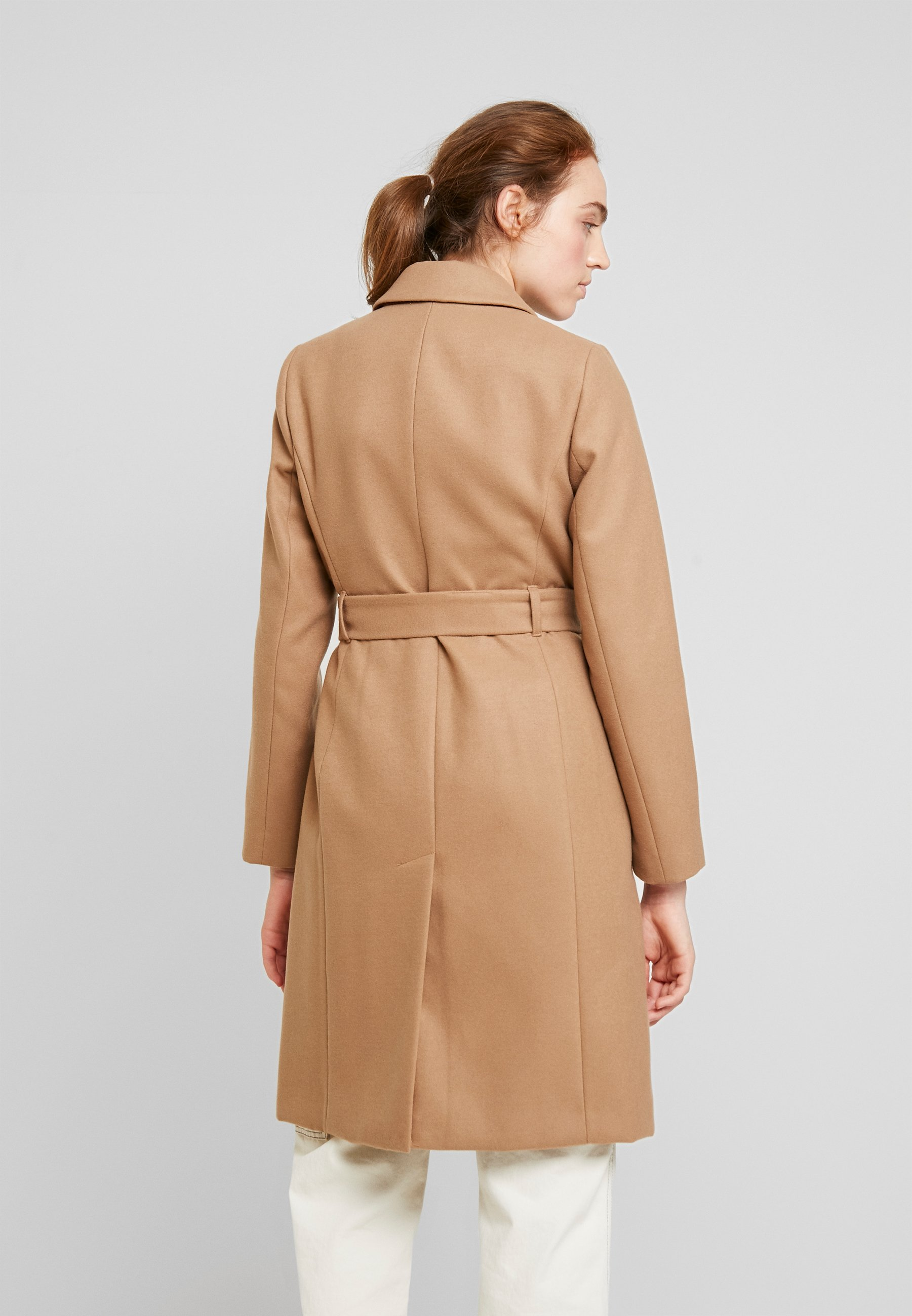 Warehouse CLEAN LONGLINE BELTED COAT - Cappotto classico tan