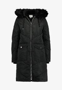 Warehouse - LONG CHEVRON PADDED COAT - Vinterjakke - black - 4