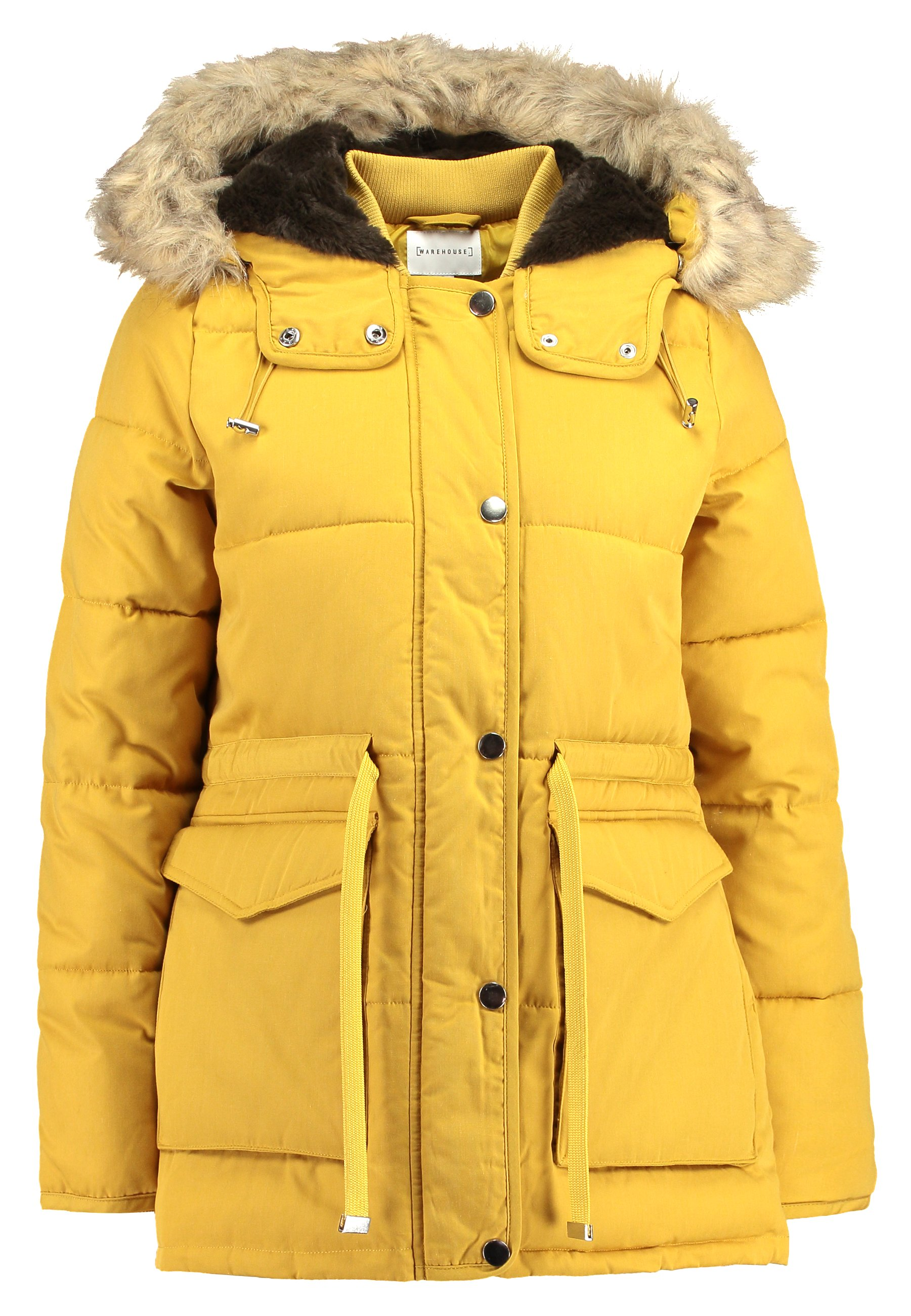 Warehouse Short Drawstring Padded Coat - Parka Mustard 8BZGsrhW