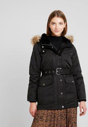 SHORT CLEAN HOODED COAT - Zimní bunda - black