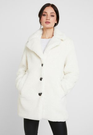 SINGLE BREASTED COAT - Winter coat - cream