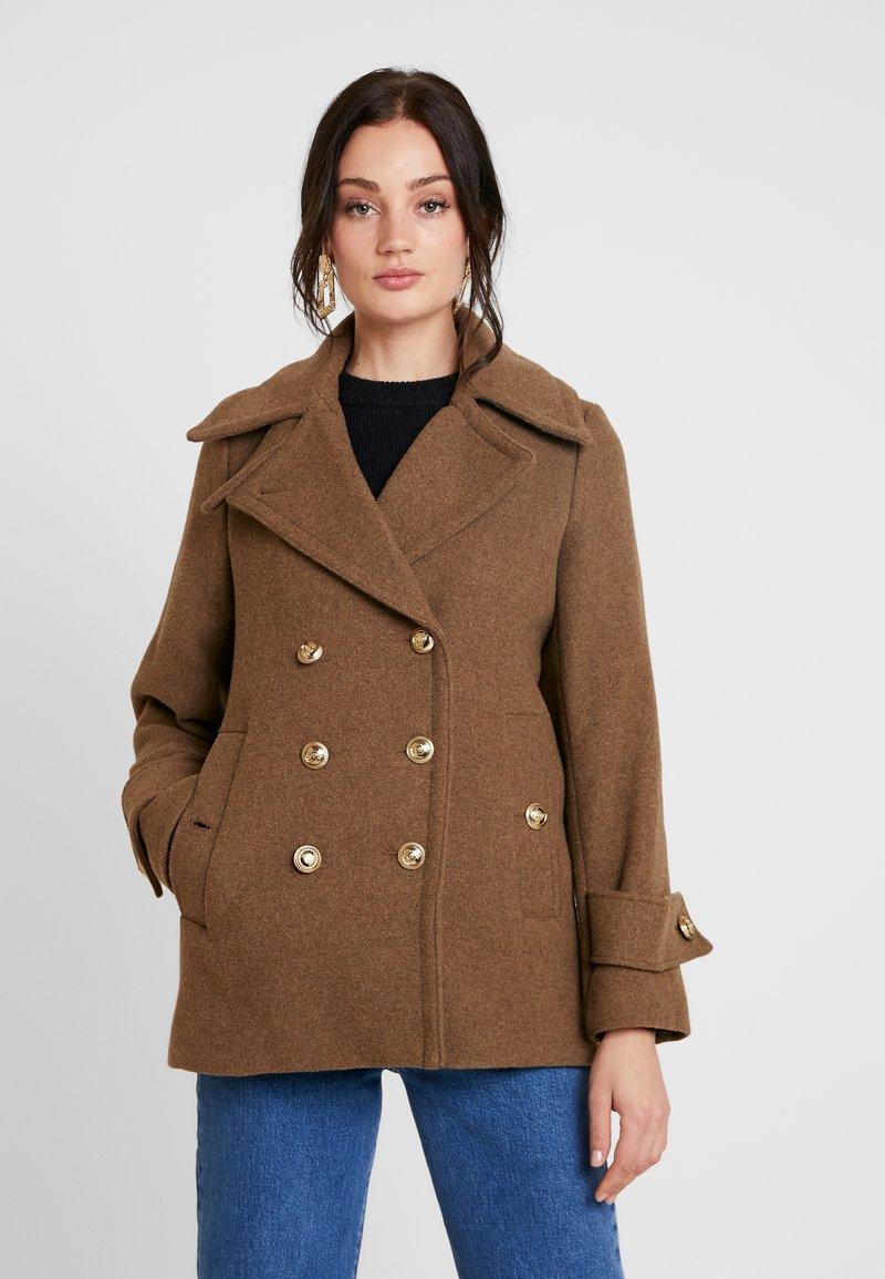 Warehouse - SHORT COAT - Classic coat - khaki
