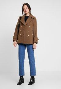 Warehouse - SHORT COAT - Classic coat - khaki - 1