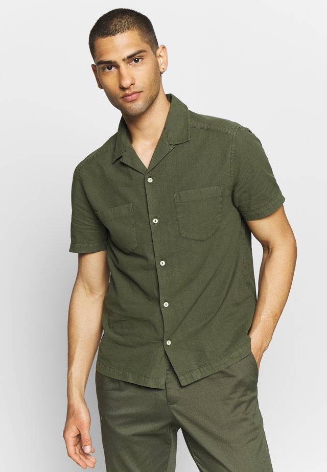 TEXTURED REVERE SHIRT - Košile - khaki