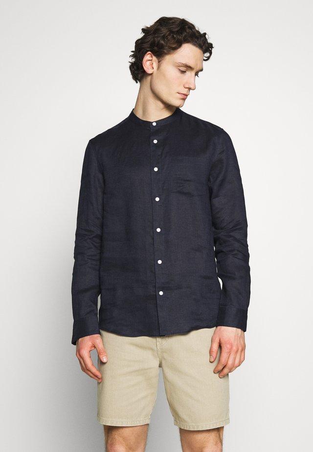 GRANDAD COLLAR SHIRT - Shirt - navy
