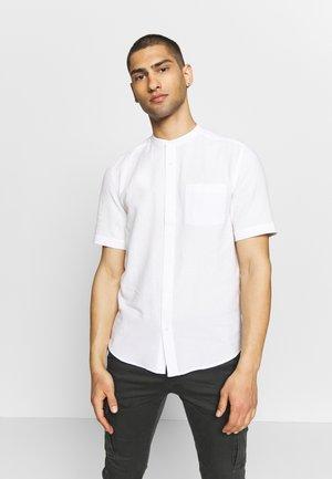 GRANDAD COLLAR TEXTURED - Skjorta - white
