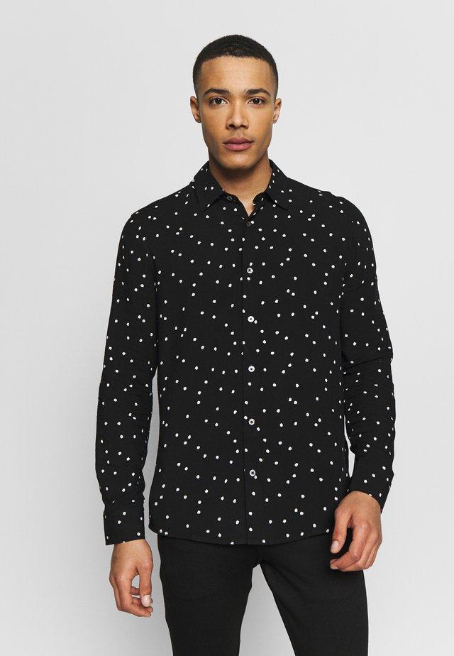 LONG SLEEVE POLKA DOT - Shirt - black