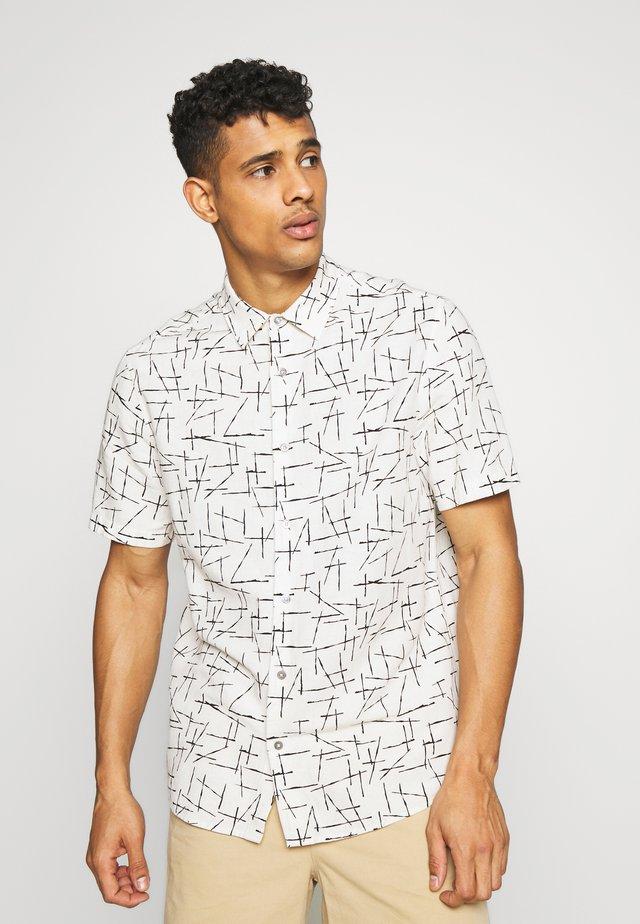 ABSTRACT PRINT - Shirt - white