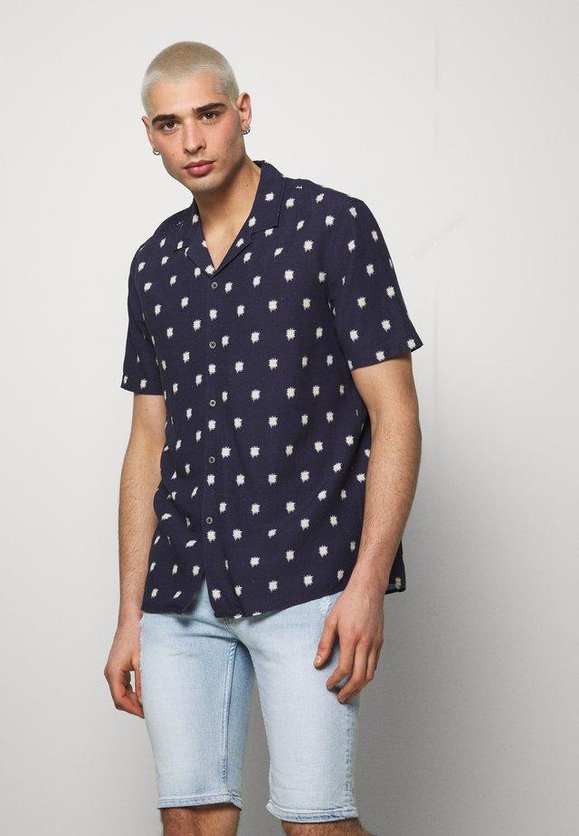 ABSTRACT PRINT - Shirt - navy