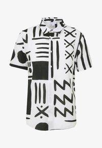 Warehouse - BLANKET PRINT - Skjorta - white/black - 4