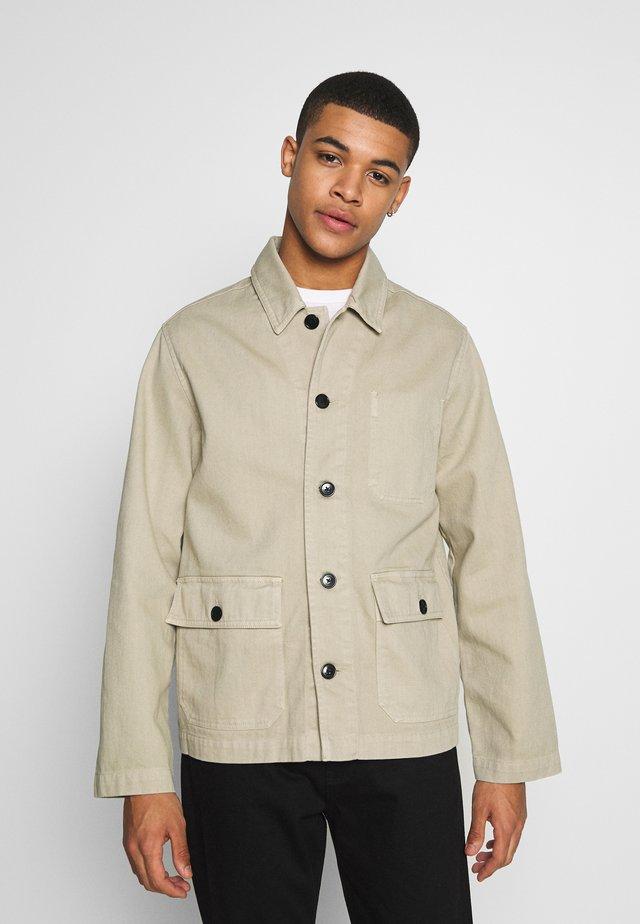 UTILITY JACKET - Summer jacket - stone