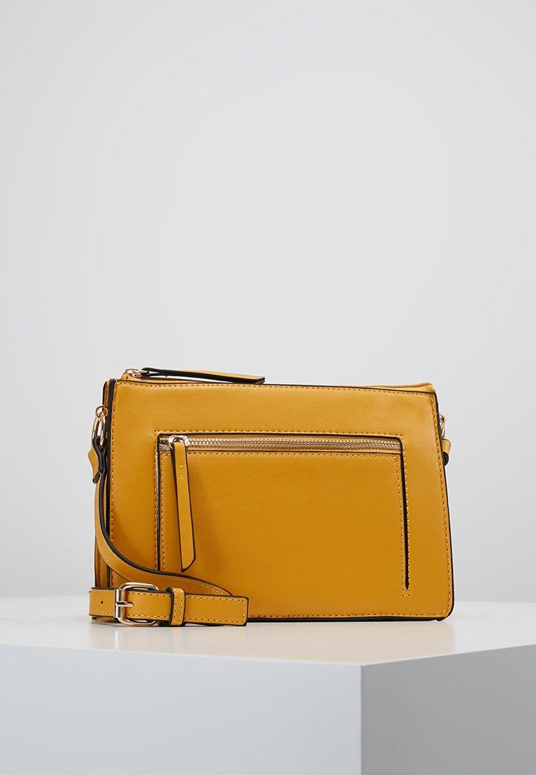 Warehouse - DOUBLE GUSSET CROSSBODY - Umhängetasche - yellow