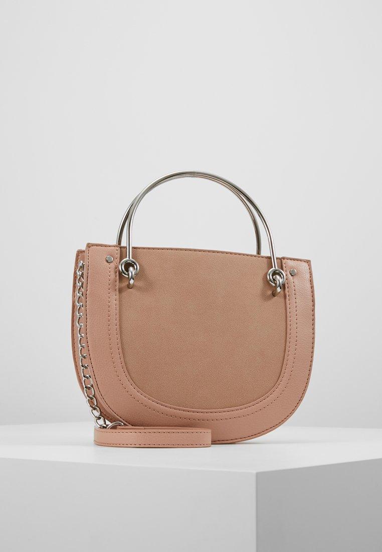 Warehouse - HANDLE DETAIL CROSSBODY - Across body bag - light pink