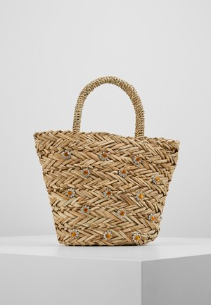 SHRIMPS JEWELLED BUCKET BAG - Håndtasker - natural