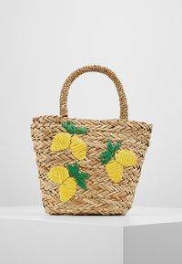 Warehouse - LEMONS BUCKET BAG - Handtas - beige - 0