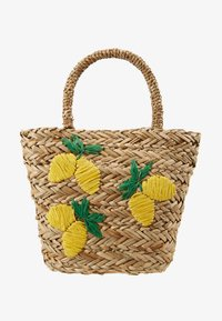 Warehouse - LEMONS BUCKET BAG - Handtas - beige - 5