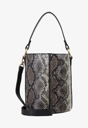 SNAKE BUCKET BAG - Sac à main - brown