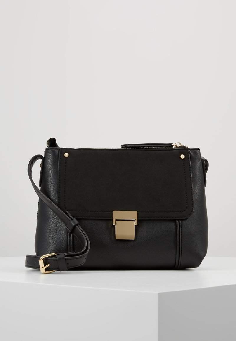 Warehouse - CLASP DETAIL CROSSBODY BAG - Skuldertasker - black
