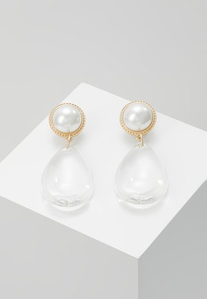 CLEAR DROP WITH DETAIL - Boucles d'oreilles - transparent