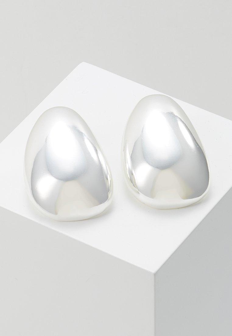 Warehouse - LARGE NUGGET EARRING - Orecchini - silver-coloured