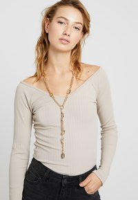 Warehouse - HEAVY CHAIN Y NECKLACE - Necklace - gold-coloured - 1