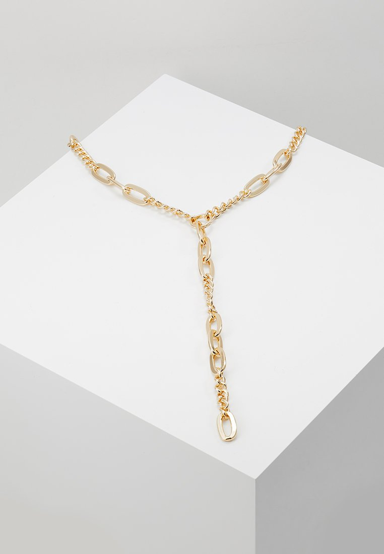 Warehouse - HEAVY CHAIN Y NECKLACE - Necklace - gold-coloured