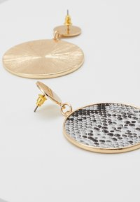 Warehouse - SNAKE DISC DROP EARRINGS - Oorbellen - grey - 2