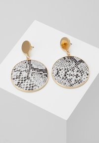Warehouse - SNAKE DISC DROP EARRINGS - Oorbellen - grey - 0