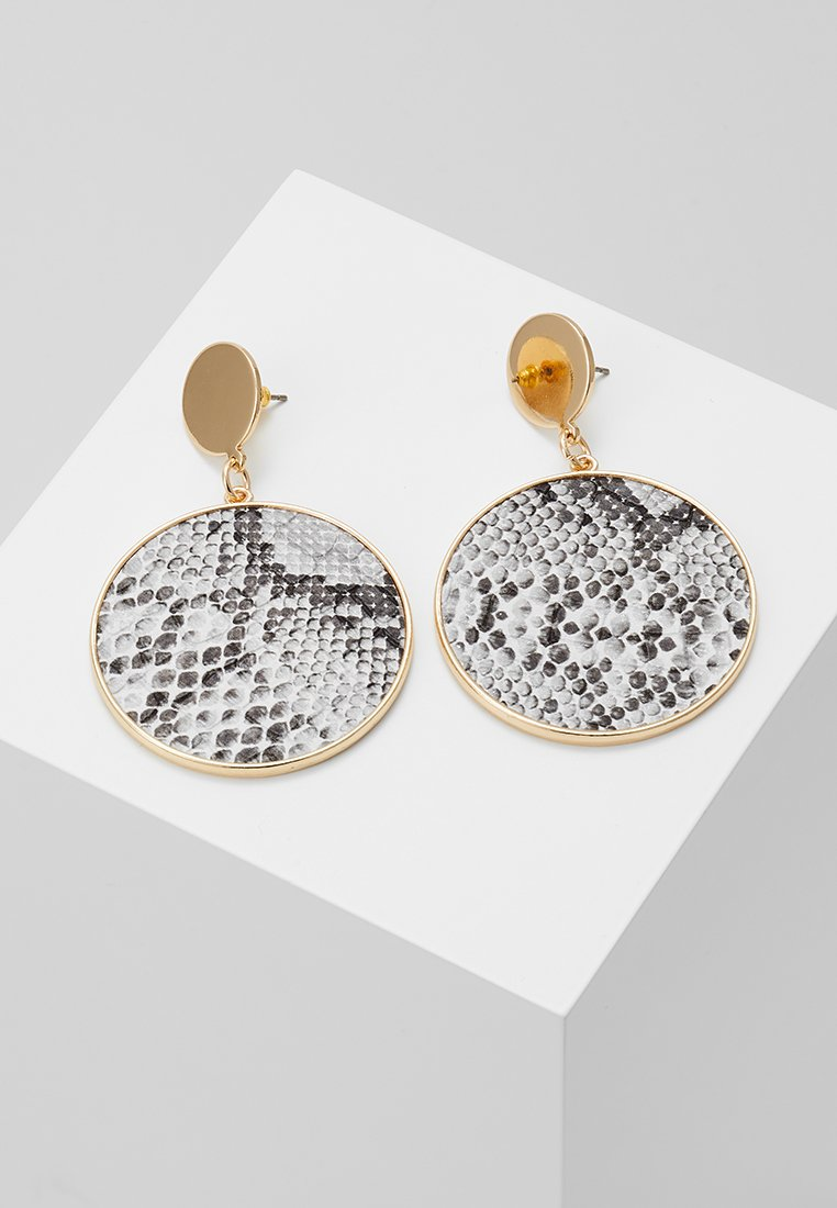 Warehouse - SNAKE DISC DROP EARRINGS - Náušnice - grey
