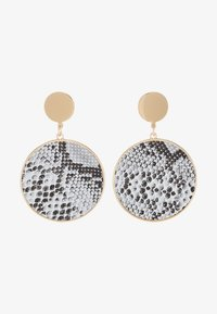 Warehouse - SNAKE DISC DROP EARRINGS - Oorbellen - grey