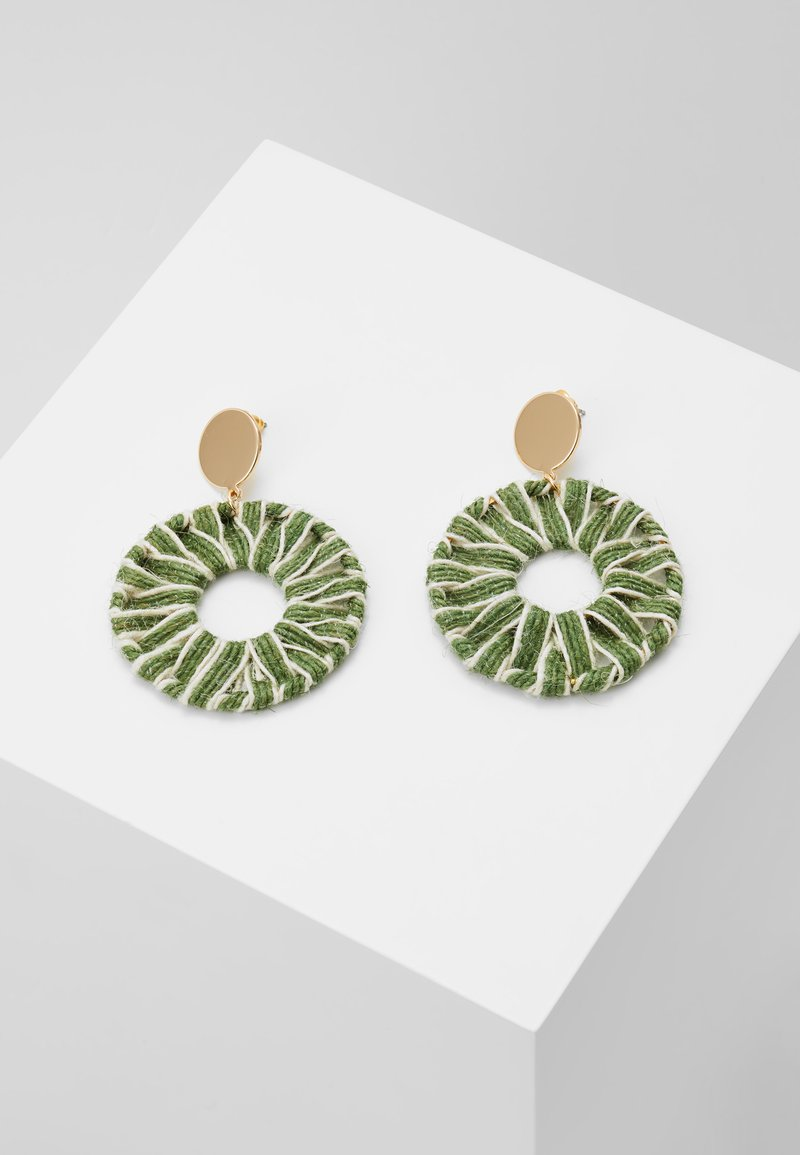 Warehouse - THREAD WRAP - Earrings - green