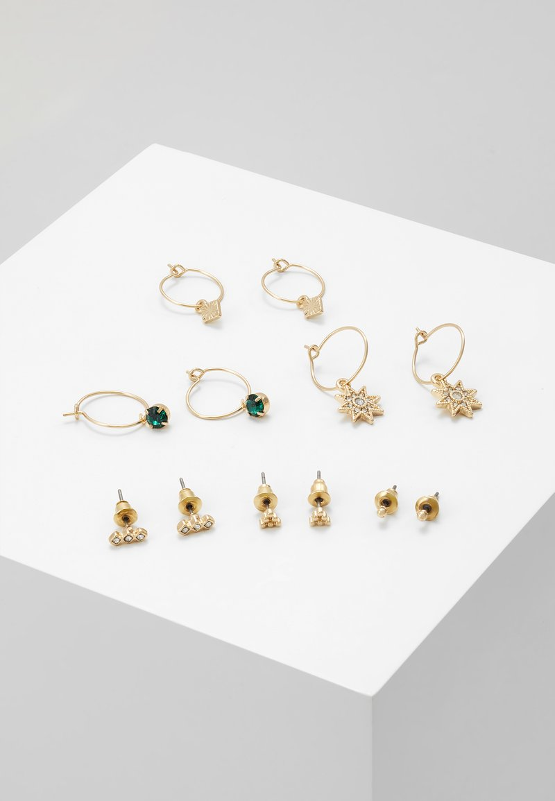 Warehouse - FINE STAR MULTI 6 PACK - Earrings - gold-coloured