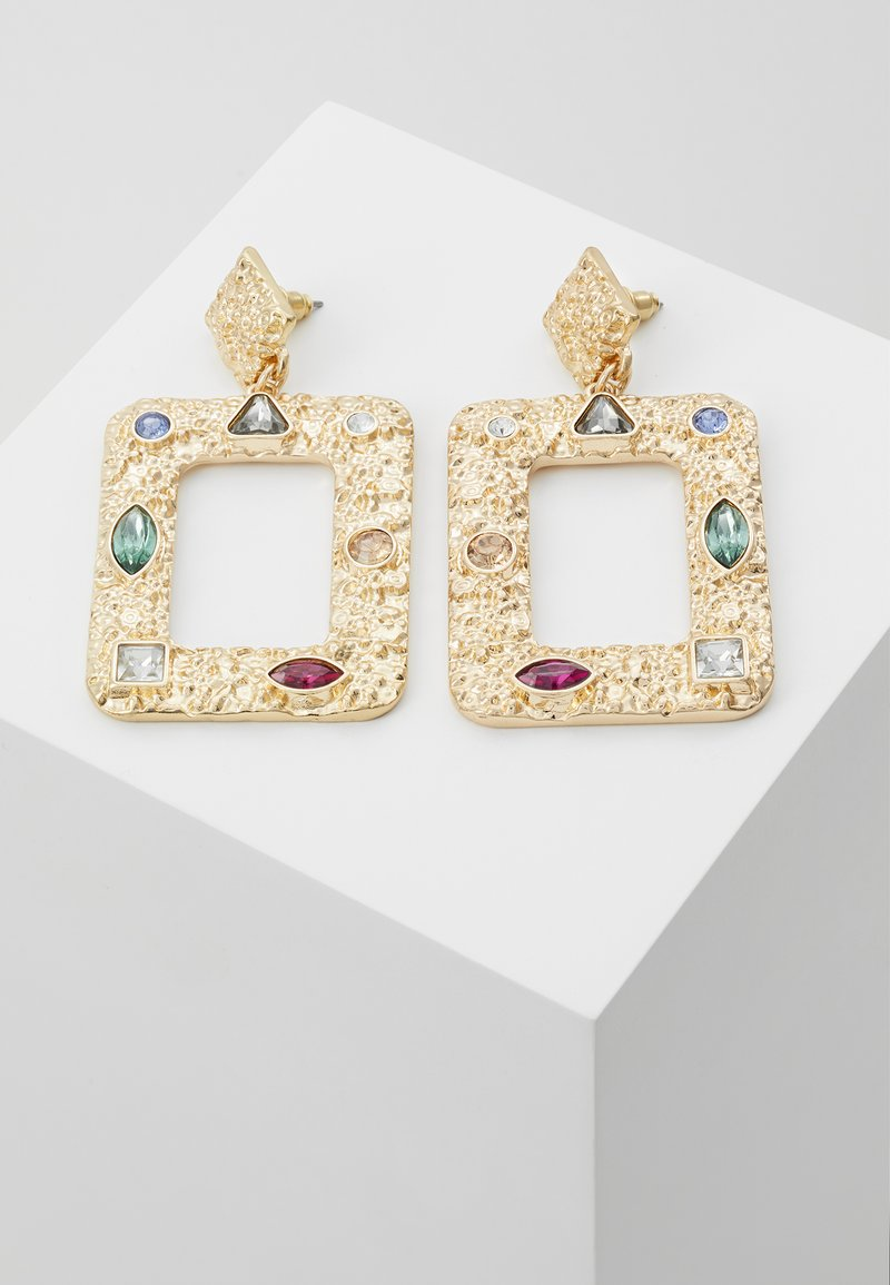 Warehouse - SQUARE GEM DOO - Boucles d'oreilles - gold-coloured