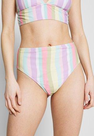 BROKEN STRIPE BOTTOM - Braguita de bikini - lilac/orange
