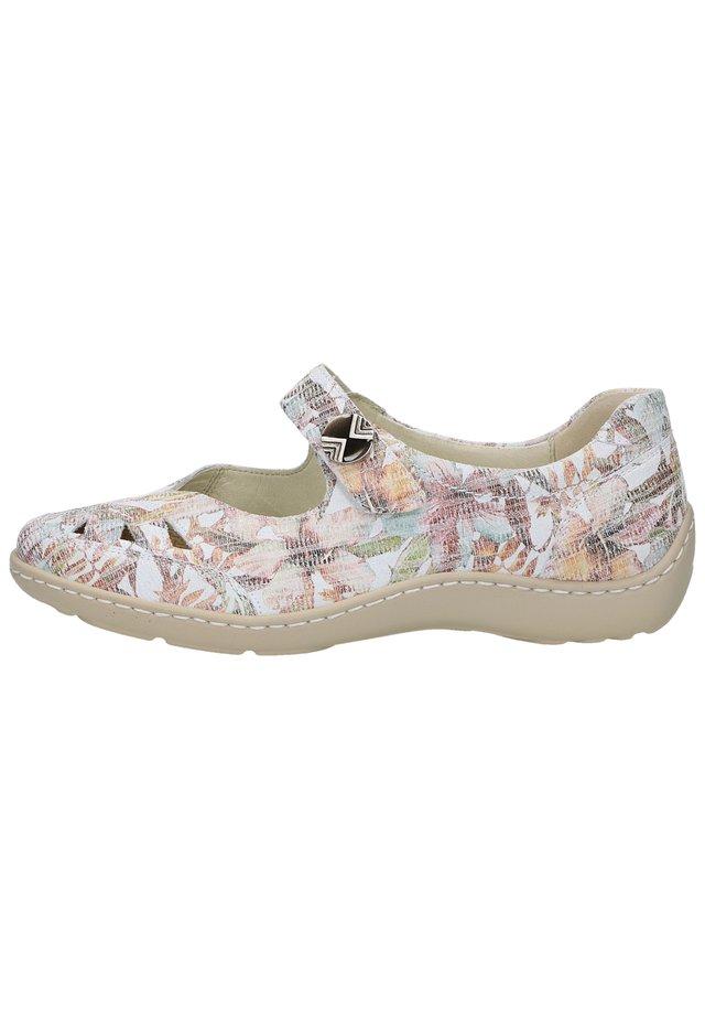 Ballerina's met enkelbandjes - cement 013
