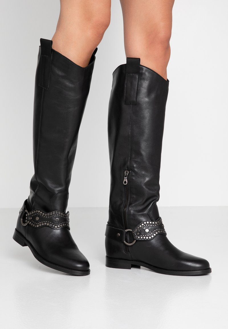 WAY OUT LONDON - Cowboy/Biker boots - nero