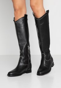 WAY OUT LONDON - Cowboy/Biker boots - nero - 0