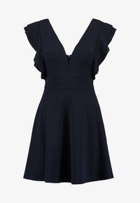 WAL G PETITE - EXCLUSIVE V NECK FRILL SLEEVE MINI DRESS - Jersey dress - navy - 5
