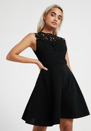 EXCLUSIVE BODICE MINI DRESS - Žerzejové šaty - black