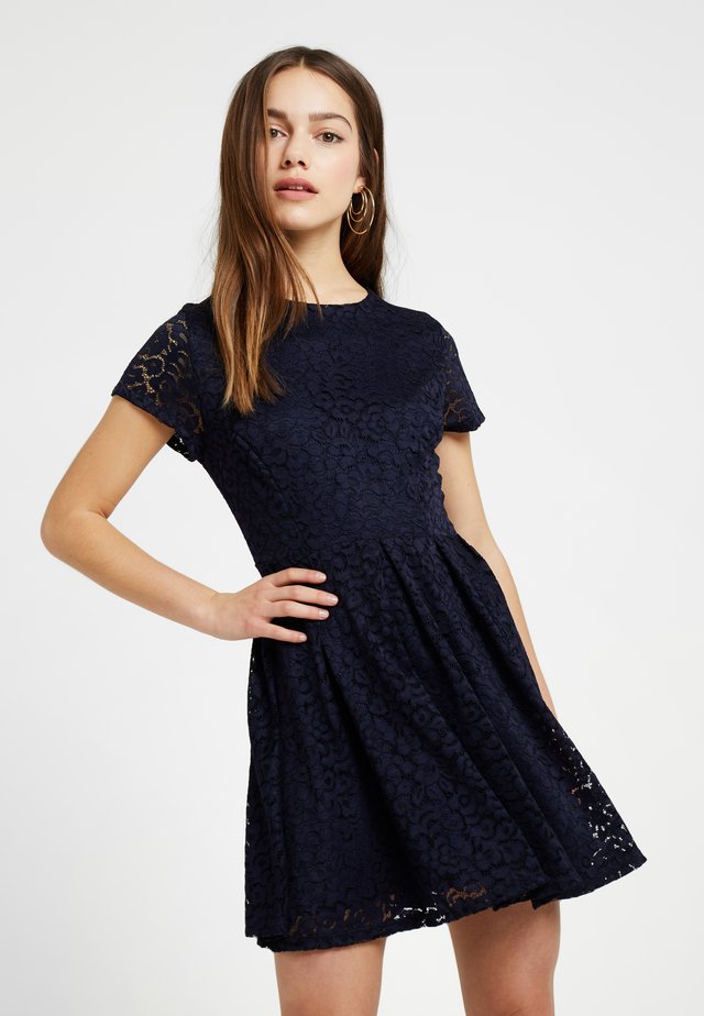 EXCLUSIVE MINI DRESS - Cocktailklänning - navy