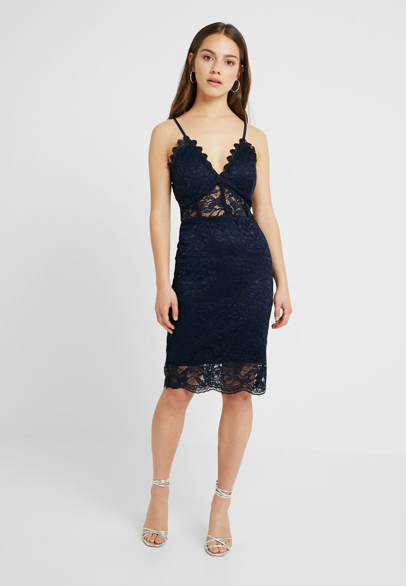 WAL G PETITE - ECLUSIVE MIDI DRESS - Cocktail dress / Party dress - navy
