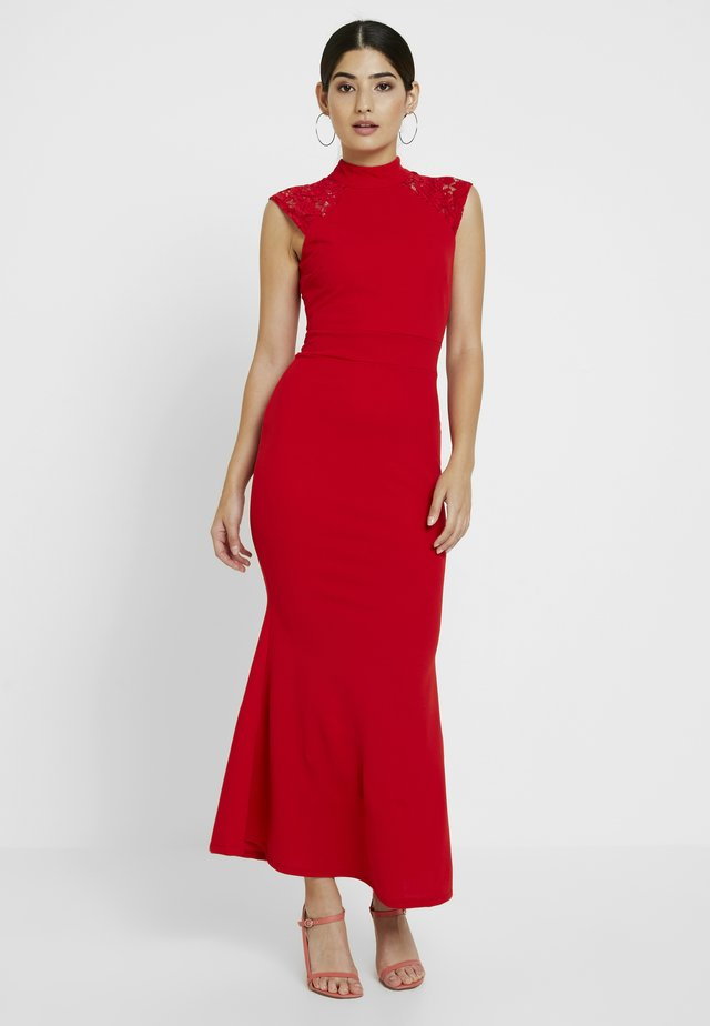 PERKIN NECK INSERT MAXI - Occasion wear - red