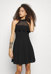 WAL G PETITE - DRESS - Žerzejové šaty - black - 0
