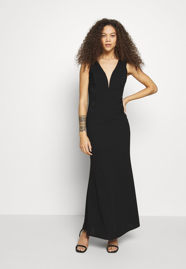 SIDE INSERT GOWN - Cocktailklänning - black