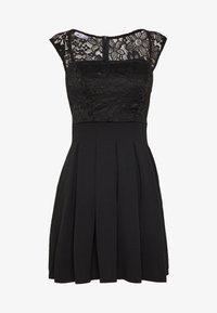WAL G PETITE - SQUARE NECK SHOULDERS DRESS - Denní šaty - black - 4