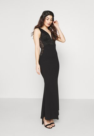 V NECK GOWN - Iltapuku - black