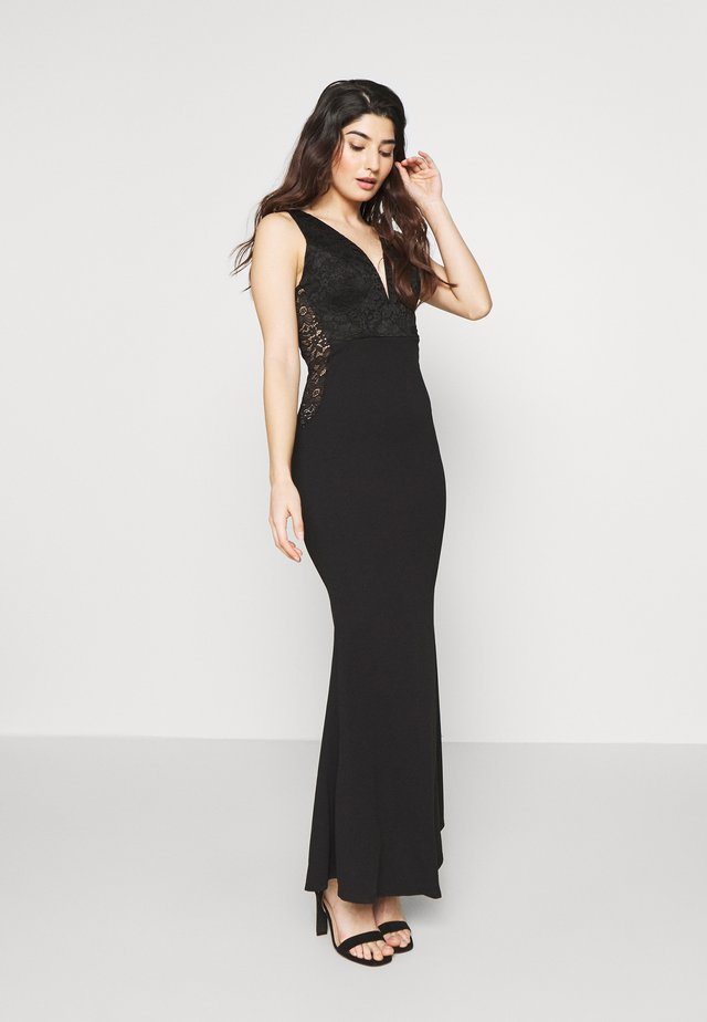 V NECK GOWN - Galajurk - black