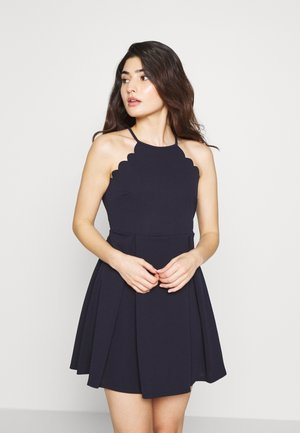 HALTER NECK SCALOP DRESS - Vardagsklänning - navy